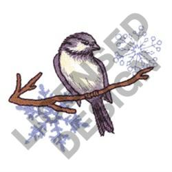 BIRD AND SNOWFLAKES embroidery design