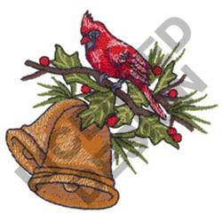 CARDINAL & CHRISTMAS BELL embroidery design