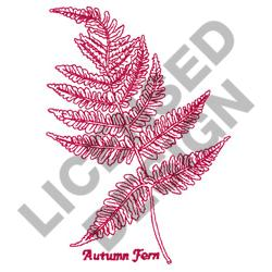 AUTUMN FERN embroidery design