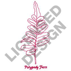 POLYPODY FERN embroidery design