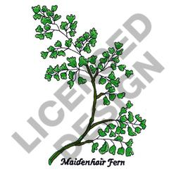 MAIDENHAIR FERN embroidery design