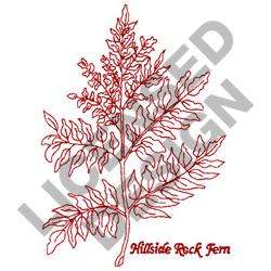HILLSIDE ROCK FERN embroidery design