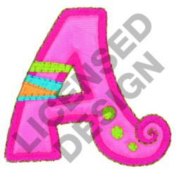 GREEK LETTER ALPHA embroidery design
