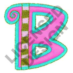 GREEK LETTER BETA embroidery design