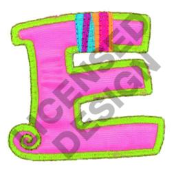GREEK LETTER EPSILON embroidery design