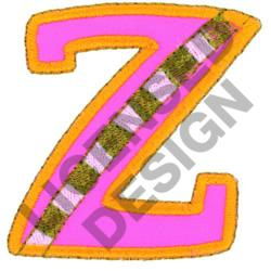 GREEK LETTER ZETA embroidery design
