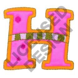 GREEK LETTER ETA embroidery design