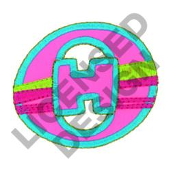 GREEK LETTER THETA embroidery design
