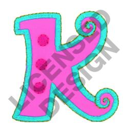GREEK LETTER KAPPA embroidery design