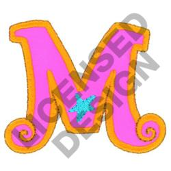 GREEK LETTER MU embroidery design