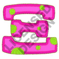 GREEK LETTER XI embroidery design