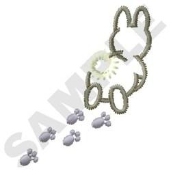 Bunny Tracks embroidery design