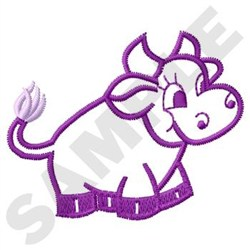 Happy Cow embroidery design