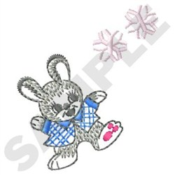 Winter Bunny embroidery design