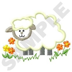 Fluffy Sheep embroidery design
