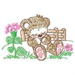 Bear Sleeping embroidery design