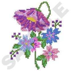 Cross Stitch Flowers embroidery design