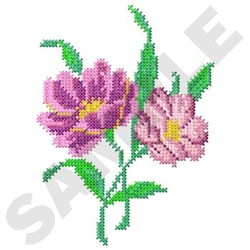 Flower Cross Stitch embroidery design
