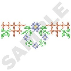 Cross Stitch Wreath embroidery design