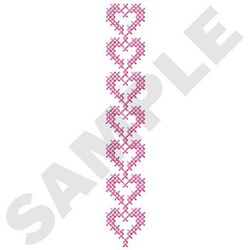 Cross Stitch Hearts embroidery design