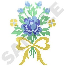 Bouquet Cross Stitch embroidery design