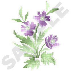 Flowers Cross Stitch embroidery design
