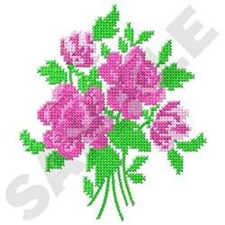 Roses Cross Stitch embroidery design