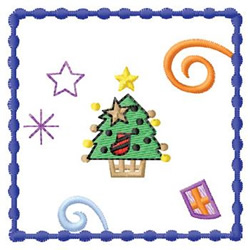 Christmas Stamp embroidery design