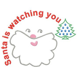Santa Is Watching embroidery design