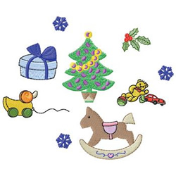 Tree And Toys embroidery design