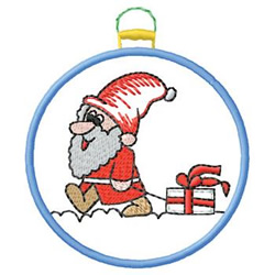 Santa Ornament embroidery design