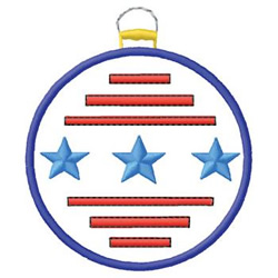 Patriotic Ornament embroidery design