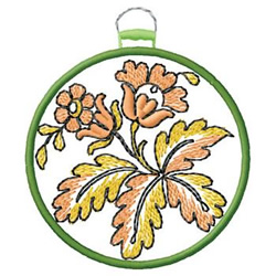 Floral Ornament embroidery design