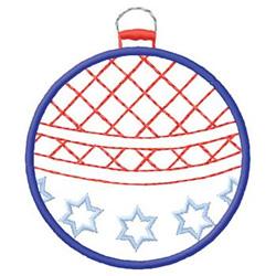 Patriotic Ornament embroidery design