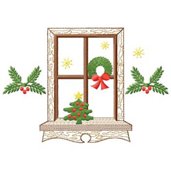 Christmas Window embroidery design