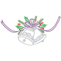 Bells With Bow embroidery design