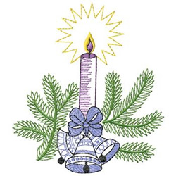 Candle With Bells embroidery design