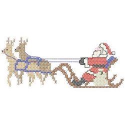 Santa With Reindeer embroidery design