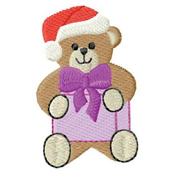Santa Bear embroidery design