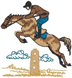 Equestrian Jumper embroidery design