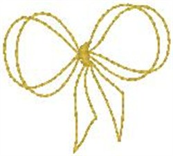 Yellow Bow Tie embroidery design