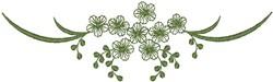 Green Floral Design embroidery design