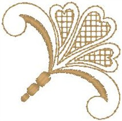 Tawny Scroll embroidery design