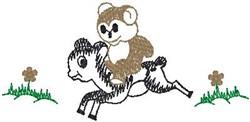 Bear Riding Deer embroidery design