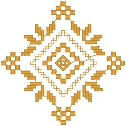 Golden Pattern embroidery design