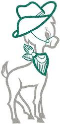 Cowboy Deer embroidery design