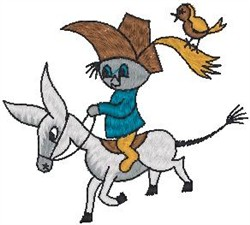 Riding Donkey embroidery design