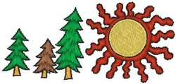 Northern Sun embroidery design