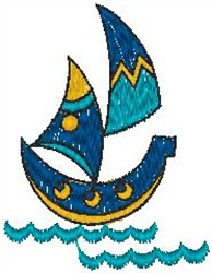 Small Sailboat embroidery design