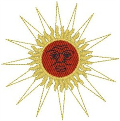 Raging sun embroidery design